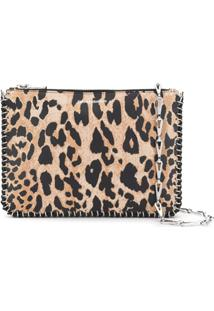 Paco Rabanne Leopard Clutch Bag - Neutro