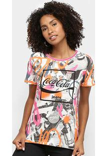 Camiseta Coca Cola Full Print Feminina - Feminino