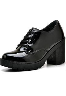 Oxford Cr Shoes Recortes Verniz Preto