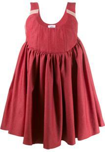 Atu Body Couture Vestido Evasê Moon - Vermelho