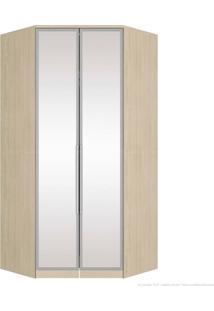 Guarda-Roupa Modulado Canto Obliquo Com Led 2 Portas Diamante M300/1 Com Espelho Fendi - Henn