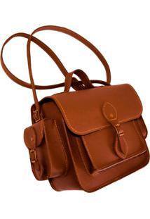 Bolsa Line Store Juniper Couro Savannah Premium - Caramelo - Feminino - Dafiti