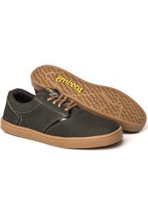 Tênis Embora Footwear Vortex Masculino - Masculino-Verde Militar+Bege