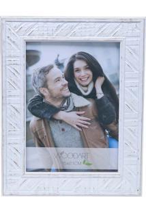 Porta Retrato Perfil Trançado 15X21 - Woodart - Branco