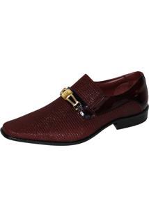 Sapato Social Gofer Loafer Verniz Vermelho