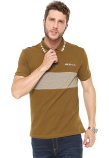 Camisa Polo Mr Kitsch Reta Zíper Verde