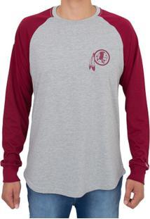 Camiseta New Era Manga Longa Washington Redskins Masculina - Feminino