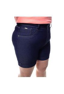 Bermuda Feminina 1/2 Coxa Plus Size Crocker - 48144