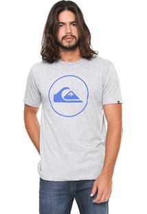 Camiseta Quiksilver Circle Cinza
