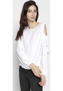 Blusa Com Ombro Vazado - Brancacalvin Klein