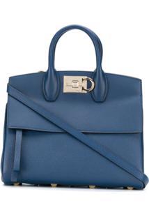 Salvatore Ferragamo Gancini Flip-Lock Tote Bag - Azul