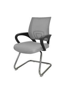 Cadeira Office Santiago Fixa Em Nylon Cinza - 27691 Cinza