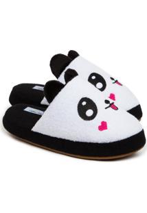 Pantufa Feminina Chinelo De Panda Quentinho 11000