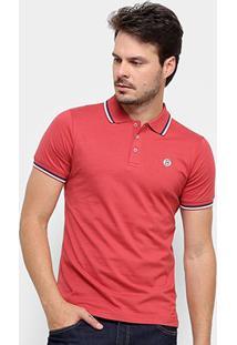 Camisa Polo Gajang Cannes Lions Masculina - Masculino-Vermelho