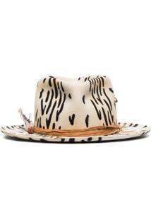 Nick Fouquet Chapéu Zeal De Lã Com Estampa De Zebra - Branco