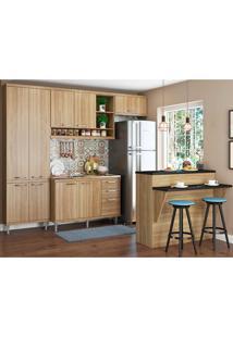 Cozinha Compacta 6 Peças 5844 Sicília - Multimóveis - Argila Acetinado