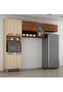 Cozinha Compacta Salleto Veneza 7 Portas Espaço Para Micro-Ondas 22.