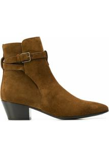 Saint Laurent Ankle Boot Wyatt Jodhpur - Marrom