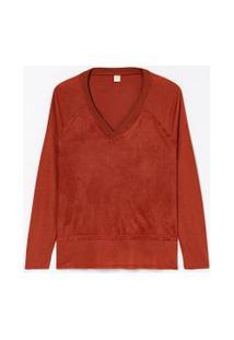 Blusa Lisa Com Recortes | Marfinno | Marrom | G