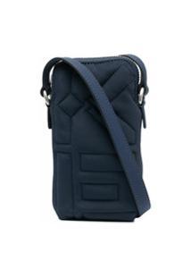 Kenzo Bolsa Para Celular Matelassê Monogramado - Azul