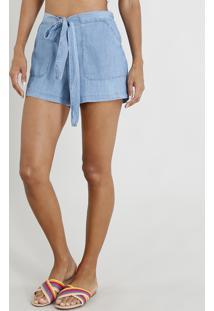 85df49d32 R$ 69,99. CEA Short Jeans Clochard Feminino Com Amarração Azul Claro