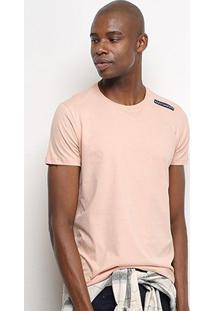Camiseta T-Shirt Acostamento Básica Masculina - Masculino-Rosa