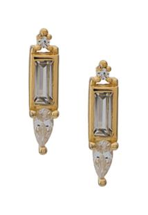 V Jewellery Shan Stud Earrings - Dourado