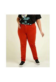 Calça Plus Size Feminina Sarja Skinny