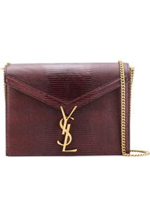 Saint Laurent Bolsa Tiracolo Envelope - Marrom