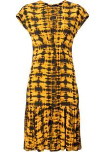 Proenza Schouler Vestido Leve Estampado - Amarelo