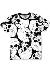 Camiseta Bsc Caveira Cranios Full Print - Masculino-Preto