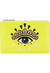 Kenzo Eye Clutch Bag - Amarelo