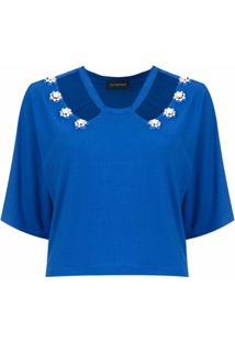 Olympiah Top Cropped 'Copa' - Azul