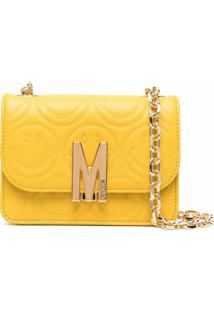 Moschino Smiley-Quilted M Shoulder Bag - Amarelo