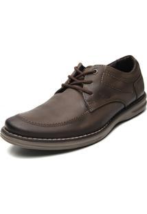 Sapato Couro Pegada Lisa Cinza