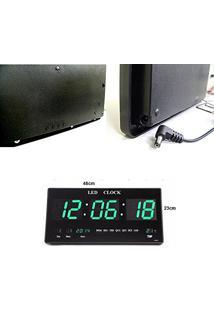 715a6154cb5 Amazon. Relógio De Parede Verde Tom Escuro Led De Parede Bivolt Grande  Digital Elétrico Tronic Training Academia Termo Relogio Com Alarme Data