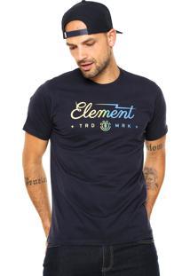 Camiseta Element Bolt Azul-Marinho