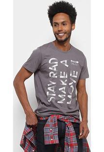 Camiseta Colcci Estampada Move Masculina - Masculino-Cinza