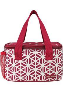Bolsa Térmica Geométrica- Vermelha & Branca- 13X21,5Jacki Design