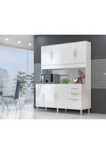 Cozinha Compacta Gemeos 1,44M 7 Portas 3 Gav. Branco Branco - Branco - Dafiti