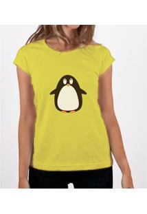 Camiseta Fernanda Almeida Penguim - Feminino-Amarelo