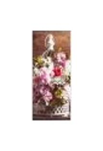 Adesivo Decorativo De Porta - Flores - 244Cnpt Auto Colante