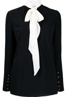 Givenchy Pussy Bow Detail Blouse - Preto