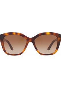 Burberry Eyewear Square Frame Sunglasses - Marrom