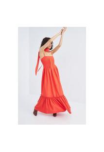 Vestido Longo De Alça Lança Perfume Vestido Vermelho
