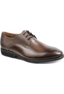 Sapato Social Couro Derby Sandro Moscoloni Quincy Masculino - Masculino-Marrom Escuro