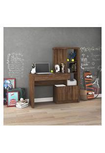 Mesa Escrivaninha Tecno Mobili Me-4143 1 Gaveta 2 Portas