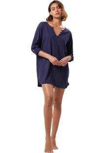 Camisola Corpo E Arte Olivia Azul - Azul - Feminino - Algodã£O - Dafiti