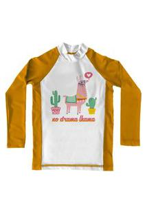 Camiseta De Lycra Comfy Lhama Amarela