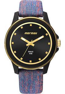 Relógio Analógico Mormaii Mo2035Hz-8A Feminino - Feminino-Preto+Azul